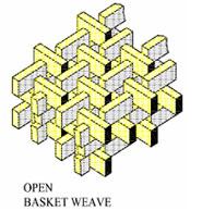 Glass Checker Open Basket Weave